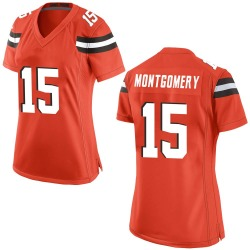 D.J. Montgomery Cleveland Browns Women's Game Alternate Nike Jersey - Orange