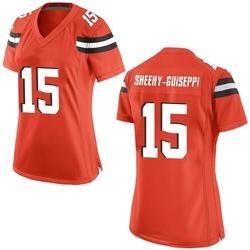 Damon Sheehy-Guiseppi Cleveland Browns Women's Game Alternate Nike Jersey - Orange