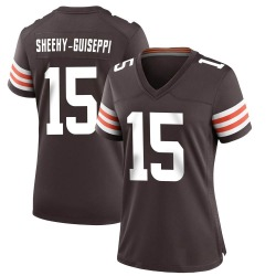 Damon Sheehy-Guiseppi Cleveland Browns Women's Game Team Color Nike Jersey - Brown
