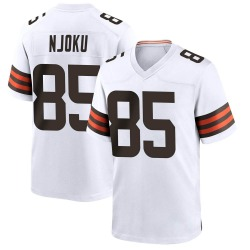David Njoku Cleveland Browns Men's Game Nike Jersey - White