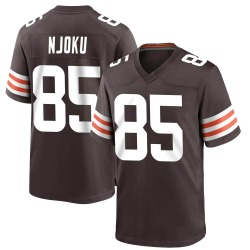David Njoku Cleveland Browns Men's Game Team Color Nike Jersey - Brown