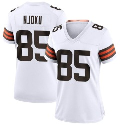 David Njoku Cleveland Browns Women's Game Nike Jersey - White