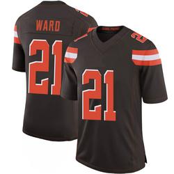 Denzel Ward Cleveland Browns Men's Limited 100th Vapor Nike Jersey - Brown
