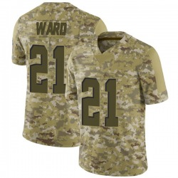 Denzel Ward Cleveland Browns Men's Limited 2018 Salute to Service Nike Jersey - Camo