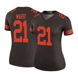 Denzel Ward Cleveland Browns Women's Color Rush Legend Nike Jersey - Brown