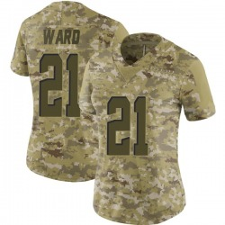 Denzel Ward Cleveland Browns Women's Limited 2018 Salute to Service Nike Jersey - Camo
