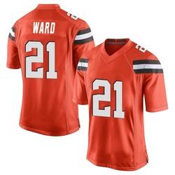 Denzel Ward Cleveland Browns Youth Game Alternate Nike Jersey - Orange