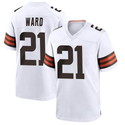 Denzel Ward Cleveland Browns Youth Game Nike Jersey - White