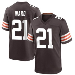 Denzel Ward Cleveland Browns Youth Game Team Color Nike Jersey - Brown