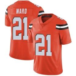 Denzel Ward Cleveland Browns Youth Limited Alternate Vapor Untouchable Nike Jersey - Orange