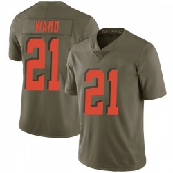Denzel Ward Cleveland Browns Youth Limited Salute to Service Nike Jersey - Green