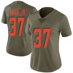 Donnie Lewis Jr. Cleveland Browns Women's Limited Salute to Service Nike Jersey - Green