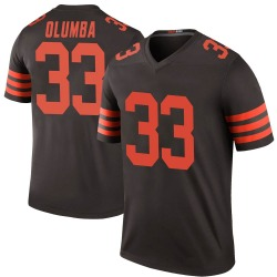 Donovan Olumba Cleveland Browns Men's Color Rush Legend Nike Jersey - Brown