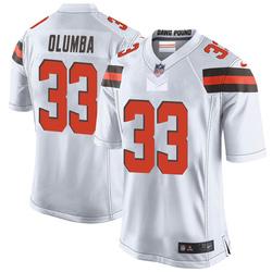 Donovan Olumba Cleveland Browns Men's Game Nike Jersey - White