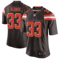 Donovan Olumba Cleveland Browns Men's Game Team Color Nike Jersey - Brown