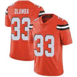 Donovan Olumba Cleveland Browns Men's Limited Alternate Vapor Untouchable Nike Jersey - Orange