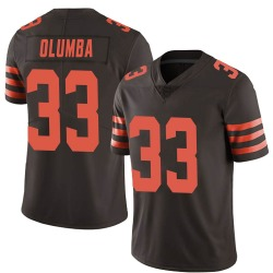 Donovan Olumba Cleveland Browns Men's Limited Color Rush Nike Jersey - Brown