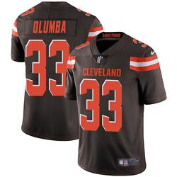 Donovan Olumba Cleveland Browns Men's Limited Team Color Vapor Untouchable Nike Jersey - Brown
