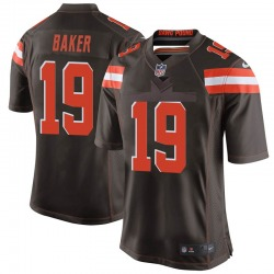 Dorian Baker Cleveland Browns Men's Game Team Color Nike Jersey - Brown