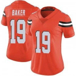Dorian Baker Cleveland Browns Women's Limited Alternate Vapor Untouchable Nike Jersey - Orange