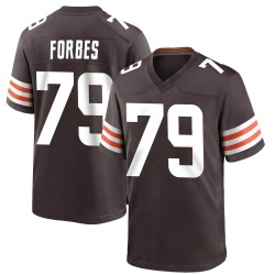 Drew Forbes Cleveland Browns Men's Game Team Color Nike Jersey - Brown