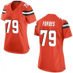 Drew Forbes Cleveland Browns Women's Game Alternate Nike Jersey - Orange