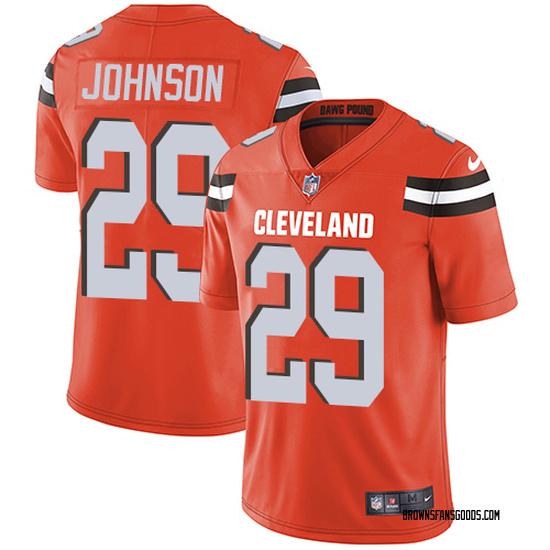 Duke Johnson Cleveland Browns Men's Limited Alternate Jersey - Orange