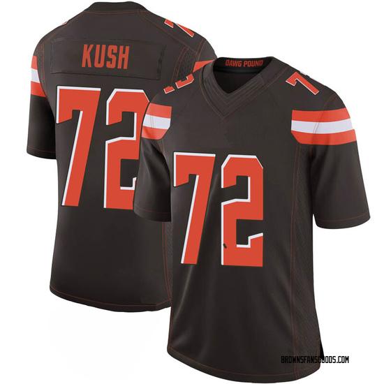 Eric Kush Cleveland Browns Men's Limited 100th Vapor Nike Jersey - Brown