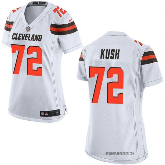 Eric Kush Cleveland Browns Women's Game Nike Jersey - White