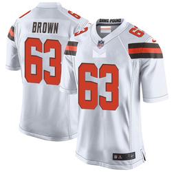 Evan Brown Cleveland Browns Men's Game Nike Jersey - White