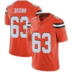 Evan Brown Cleveland Browns Men's Limited Alternate Vapor Untouchable Nike Jersey - Orange