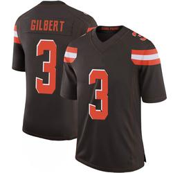 Garrett Gilbert Cleveland Browns Men's Limited 100th Vapor Nike Jersey - Brown