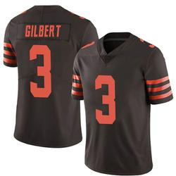 Garrett Gilbert Cleveland Browns Men's Limited Color Rush Nike Jersey - Brown