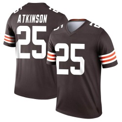 George Atkinson Cleveland Browns Men's Legend Nike Jersey - Brown