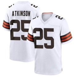 George Atkinson Cleveland Browns Youth Game Nike Jersey - White