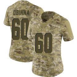 George Obinna Cleveland Browns Women's Limited 2018 Salute to Service Nike Jersey - Camo