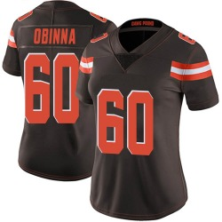 George Obinna Cleveland Browns Women's Limited Team Color Vapor Untouchable Nike Jersey - Brown
