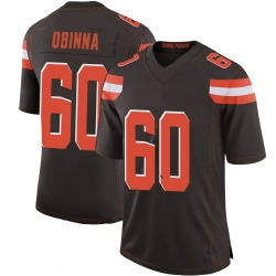 George Obinna Cleveland Browns Youth Limited 100th Vapor Nike Jersey - Brown