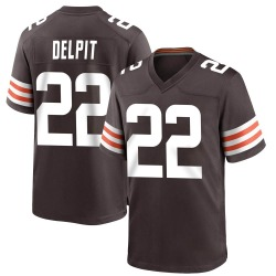 Grant Delpit Cleveland Browns Men's Game Team Color Nike Jersey - Brown