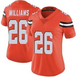 Greedy Williams Cleveland Browns Women's Limited Alternate Vapor Untouchable Nike Jersey - Orange