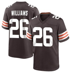 Greedy Williams Cleveland Browns Youth Game Team Color Nike Jersey - Brown