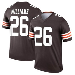 Greedy Williams Cleveland Browns Youth Legend Nike Jersey - Brown