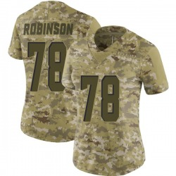 Greg Robinson Cleveland Browns Women's Limited 2018 Salute to Service Nike Jersey - Camo
