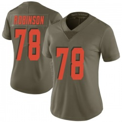 Greg Robinson Cleveland Browns Women's Limited Salute to Service Nike Jersey - Green