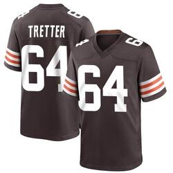 JC Tretter Cleveland Browns Men's Game Team Color Nike Jersey - Brown