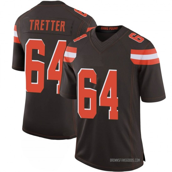 JC Tretter Cleveland Browns Men's Limited 100th Vapor Nike Jersey - Brown