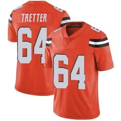 JC Tretter Cleveland Browns Men's Limited Alternate Vapor Untouchable Nike Jersey - Orange
