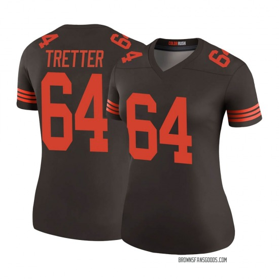 JC Tretter Cleveland Browns Women's Color Rush Legend Nike Jersey - Brown