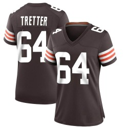 JC Tretter Cleveland Browns Women's Game Team Color Nike Jersey - Brown