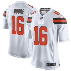 J'Mon Moore Cleveland Browns Men's Game Nike Jersey - White
